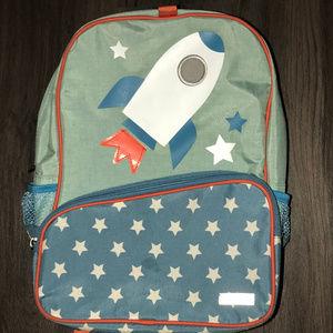 JJ Cole Blue Rocket Boys Toddler Backpack